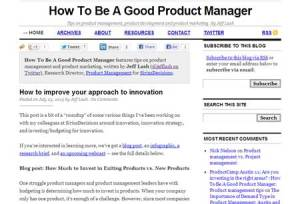 How to be a Good Product Manager